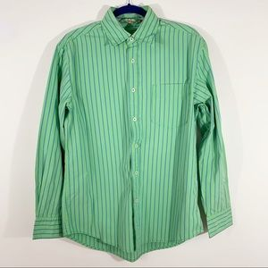 BODEN . Button Front Striped L/S Shirt . M